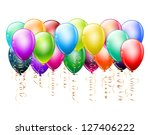 bunch of colorful balloons on... | Shutterstock .eps vector #127406222