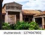 ancient ruins in pompeii ... | Shutterstock . vector #1274067802