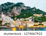 view of amalfi city in italy....   Shutterstock . vector #1274067922