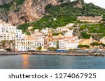 view of amalfi city in italy....   Shutterstock . vector #1274067925