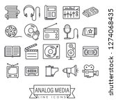 collection of analog media and...   Shutterstock .eps vector #1274068435