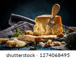 parmesan cheese composition... | Shutterstock . vector #1274068495