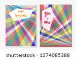 card template illustration...   Shutterstock .eps vector #1274085388