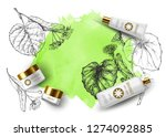 product mockup and sketch... | Shutterstock .eps vector #1274092885