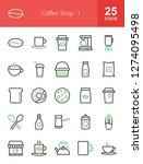 coffee shop line icons | Shutterstock .eps vector #1274095498