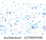 blue paper snowflakes flying... | Shutterstock .eps vector #1274095948