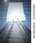 blank advertising flag and... | Shutterstock . vector #127410365