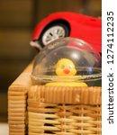 baby or children toys in basket | Shutterstock . vector #1274112235