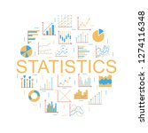 statistics round color icon.... | Shutterstock .eps vector #1274116348