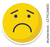 sad  weeping vector isolated... | Shutterstock .eps vector #1274126602