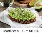 sandwich of tender  juicy... | Shutterstock . vector #1274131618