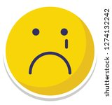 weeping  sad vector isolated... | Shutterstock .eps vector #1274132242