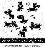 collection of cartoon dogs... | Shutterstock .eps vector #127413482