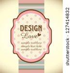 greeting card template design | Shutterstock .eps vector #127414832