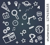 education and study icons set... | Shutterstock .eps vector #1274150155