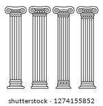 set of four classical greek ... | Shutterstock .eps vector #1274155852