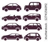 side view  silhouette car... | Shutterstock .eps vector #1274156092