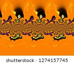 a hand drawing pattern made of... | Shutterstock . vector #1274157745