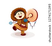 cartoon illustration of funny... | Shutterstock . vector #1274171395