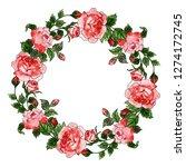 valentine wreath collection | Shutterstock . vector #1274172745
