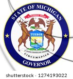 3d governor of michigan seal ... | Shutterstock . vector #1274193022