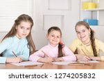 portrait of a beautiful girls... | Shutterstock . vector #1274205832