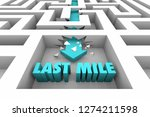 last mile final stretch...   Shutterstock . vector #1274211598