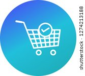 vector verified cart items icon  | Shutterstock .eps vector #1274213188