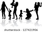 family groups  vector | Shutterstock .eps vector #127421906