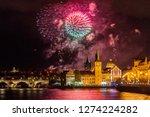 night photo of new year... | Shutterstock . vector #1274224282
