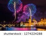 night photo of new year... | Shutterstock . vector #1274224288