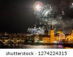 night photo of new year... | Shutterstock . vector #1274224315