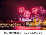 night photo of new year... | Shutterstock . vector #1274224318