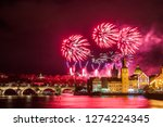 night photo of new year... | Shutterstock . vector #1274224345