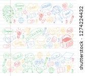 language school for adult  kids.... | Shutterstock .eps vector #1274224432