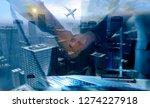 business people shaking hands ... | Shutterstock . vector #1274227918