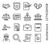 law and legal right icons pack. ... | Shutterstock .eps vector #1274230438