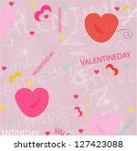 valentines background | Shutterstock .eps vector #127423088