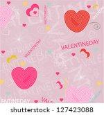 valentines background | Shutterstock .eps vector #127423088