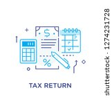 important business event. tax...   Shutterstock .eps vector #1274231728