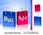 concept big sale with two... | Shutterstock . vector #127423415