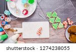 flat lay. step by step.... | Shutterstock . vector #1274238055