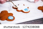 step by step. decorating... | Shutterstock . vector #1274238088
