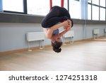 adult woman practices aero anti ... | Shutterstock . vector #1274251318