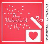 banner valentine day design for ... | Shutterstock .eps vector #1274253715
