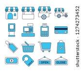 kiosk icons pack. isolated... | Shutterstock .eps vector #1274273452