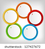 concept of colorful circular... | Shutterstock . vector #127427672