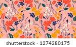 floral seamless pattern. vector ... | Shutterstock .eps vector #1274280175