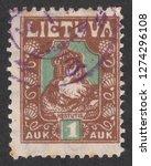 lithuania   circa 1921  a stamp ... | Shutterstock . vector #1274296108