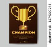 golden 3d trophy winner victory ... | Shutterstock .eps vector #1274307295